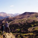 Hikers at Deer Pass
